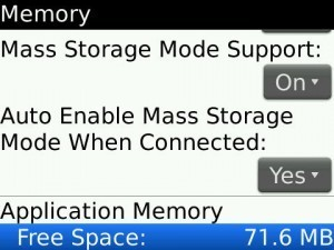 mass storage mode blackberry