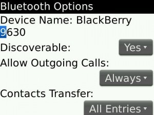 bluetooth discovery blackberry