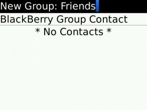 create group blackberry