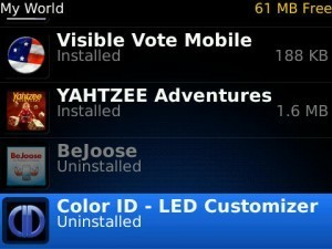 uninstalled blackberry app world app