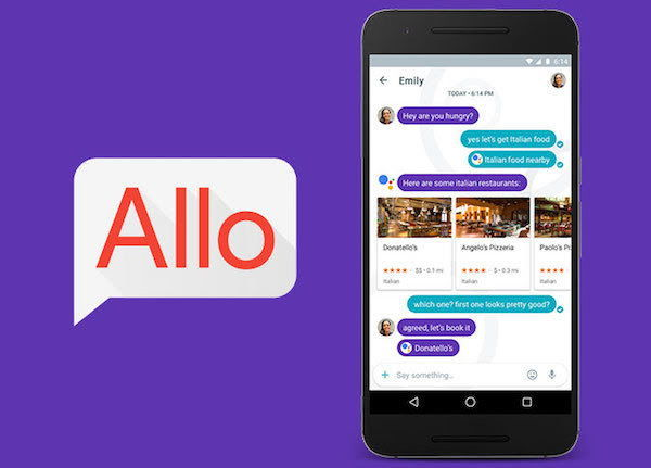 Google Allo App Screenshot