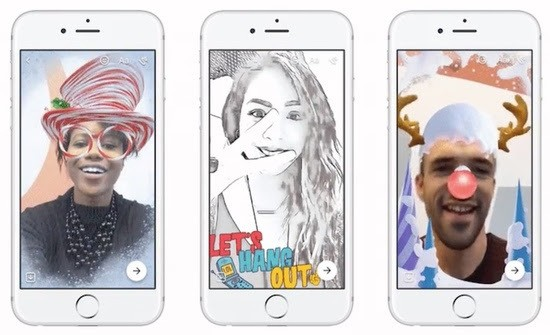 Facebook Messenger camera updates screenshots