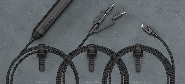 Nomad Rugged Cables Looped on Table