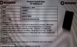 Rogers to offer LG Optimus L3 for only $124.99 without a contract