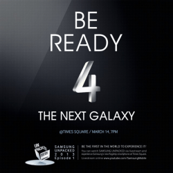 Samsung Sends Times Square Invites for Galaxy S4 Launch March 14